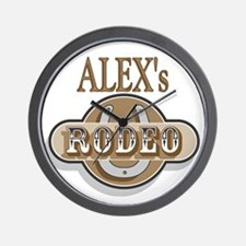 Alex's Rodeo Personalized Wall Clock