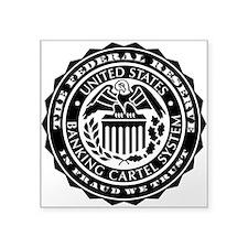 "Fed Vulture Seal Square Sticker 3"" x 3"""