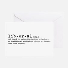 Liberal By Definition Greeting Cards (Pk of 10