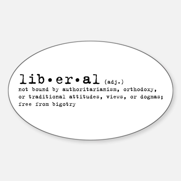 Liberal By Definition Oval Decal