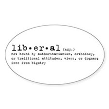 Liberal By Definition Oval Stickers