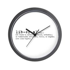Liberal By Definition Wall Clock