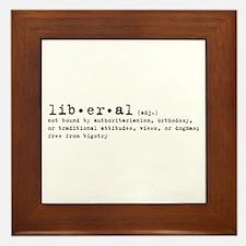 Liberal By Definition Framed Tile