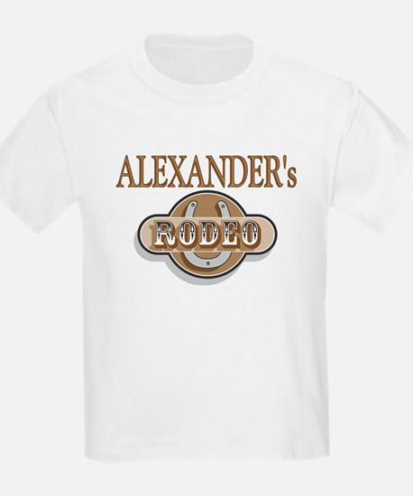Alexander's Rodeo Personalized Kids T-Shirt