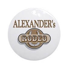 Alexander's Rodeo Personalized Ornament (Round)