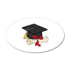Graduation 22x14 Oval Wall Peel