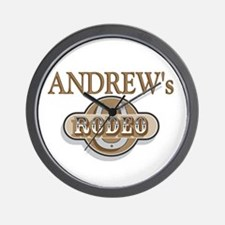 Andrew's Rodeo Personalized Wall Clock