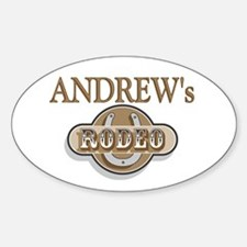 Andrew's Rodeo Personalized Oval Decal