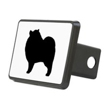 Keeshond Silhouette Hitch Cover