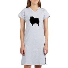 Keeshond Silhouette Women's Nightshirt