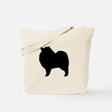 Keeshond Silhouette Tote Bag