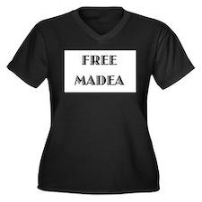 Free Madea 2 Women's Plus Size V-Neck Dark T-Shirt