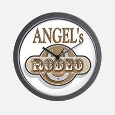 Angel's Rodeo Personalized Wall Clock