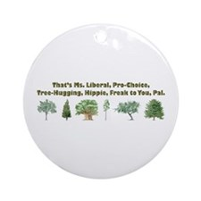 That's Ms. Liberal Ornament (Round)