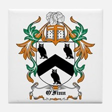 O'Finn Coat of Arms Tile Coaster