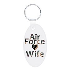 Air Force Wife Heart Camo Keychains