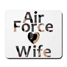 Air Force Wife Heart Camo Mousepad