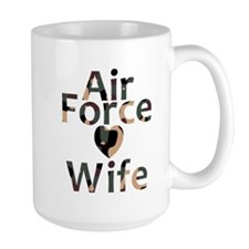 Air Force Wife Heart Camo Mug