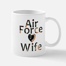 Air Force Wife Heart Camo Mug