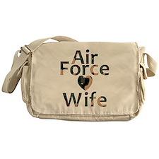 Air Force Wife Heart Camo Messenger Bag