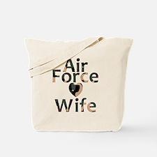 Air Force Wife Heart Camo Tote Bag