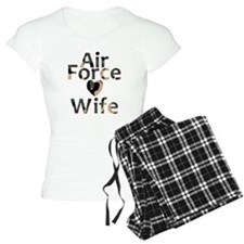 Air Force Wife Heart Camo Pajamas