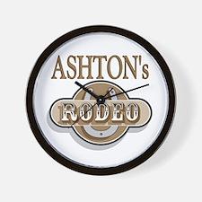Ashton's Rodeo Personalized Wall Clock