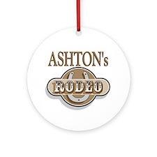 Ashton's Rodeo Personalized Ornament (Round)