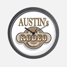 Austin's Rodeo Personalized Wall Clock