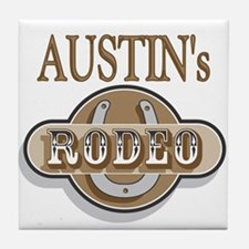 Austin's Rodeo Personalized Tile Coaster