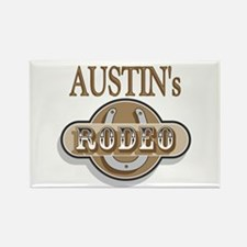 Austin's Rodeo Personalized Rectangle Magnet