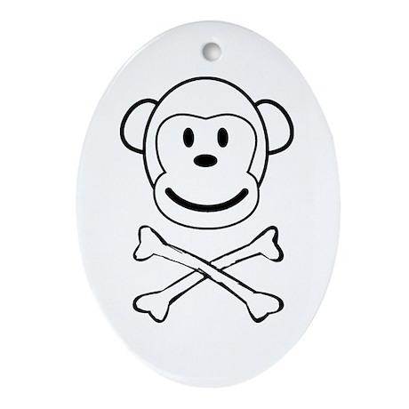 Monkey Pirate Oval Ornament