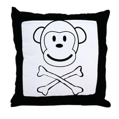 Monkey Pirate Throw Pillow