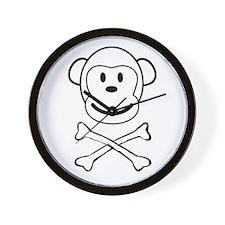 Monkey Pirate Wall Clock