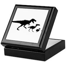 Dino Chicken Black Keepsake Box