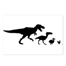 Dino Chicken Black Postcards (Package of 8)