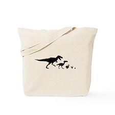 Dino Chicken Black Tote Bag