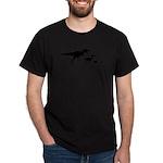 Dino Chicken Black Dark T-Shirt