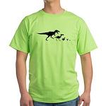 Dino Chicken Black Green T-Shirt