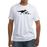 Dino Chicken Black Fitted T-Shirt