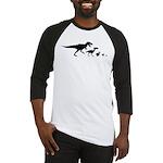 Dino Chicken Black Baseball Jersey