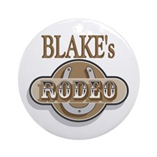 Blake's Rodeo Personalized Ornament (Round)