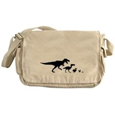 Dino Chicken Black Messenger Bag