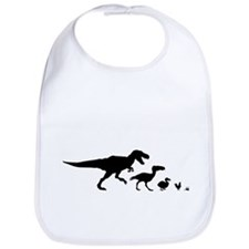 Dino Chicken Black Bib