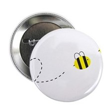 """Bee in Love 2.25"""" Button"""
