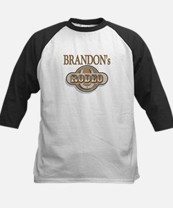Brandon's Rodeo Personalized Kids Baseball Jersey