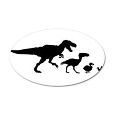 Dino Chicken Black Wall Decal