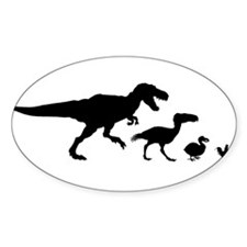 Dino Chicken Black Decal