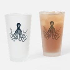 Lord Bodner Octopus Triptych (Blue) Drinking Glass