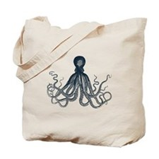Lord Bodner Octopus Triptych (Blue) Tote Bag